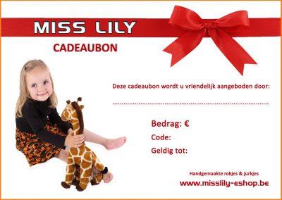 Cadeaubon Miss Lily